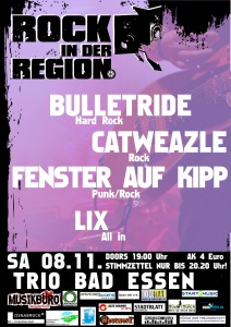 Rock in der Region 2014 - Plakat Bad Essen Trio